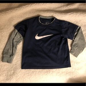 Nike Dri-Fit layered long sleeve shirt